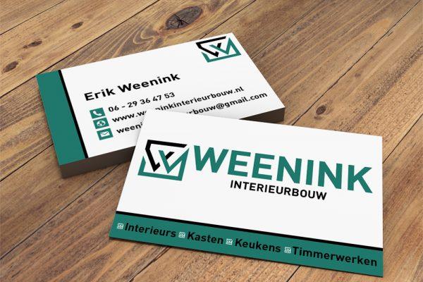 Logo en visitekaartje Weenink Interieurbouw