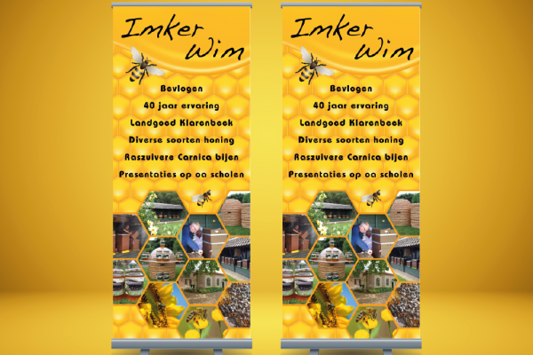 Roll-up banner Imker Wim