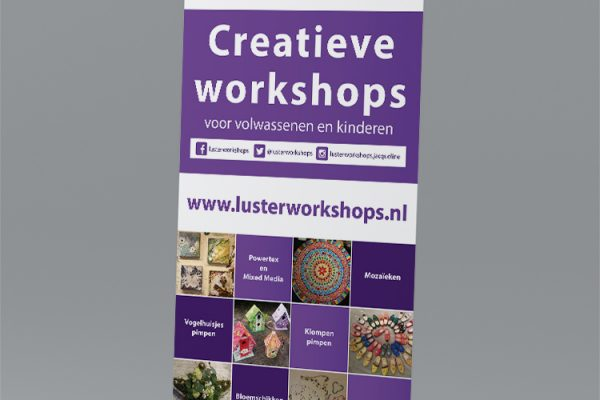 Roll-up banner Lusterworkshops
