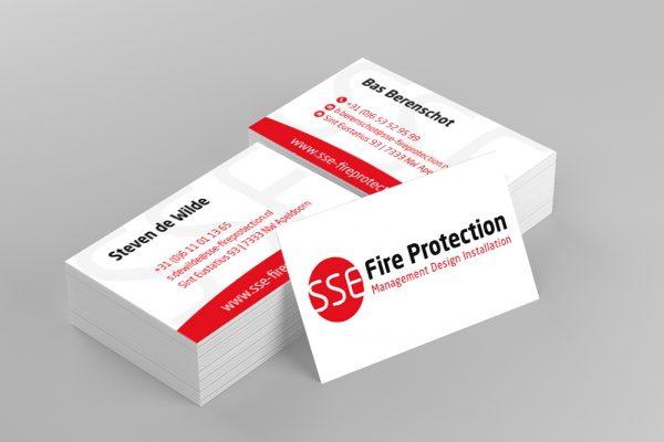 Logo en visitekaartjes SSE Fire Protection