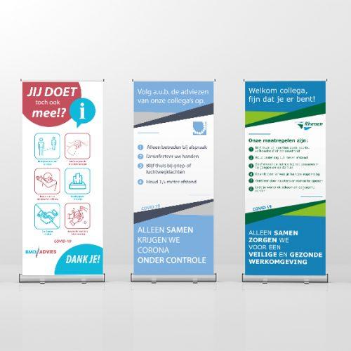 Roll up banners voor diverse bedrijven