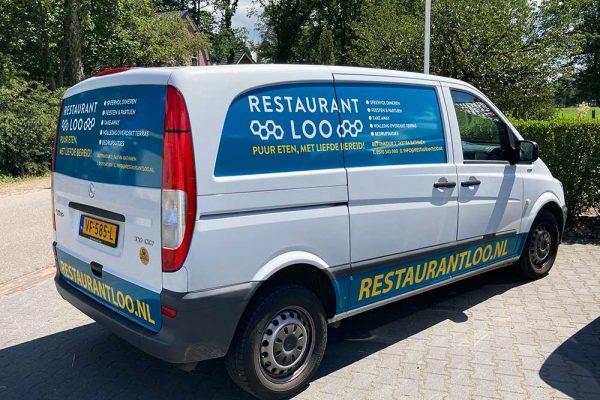 Bus belettering Restaurant Loo